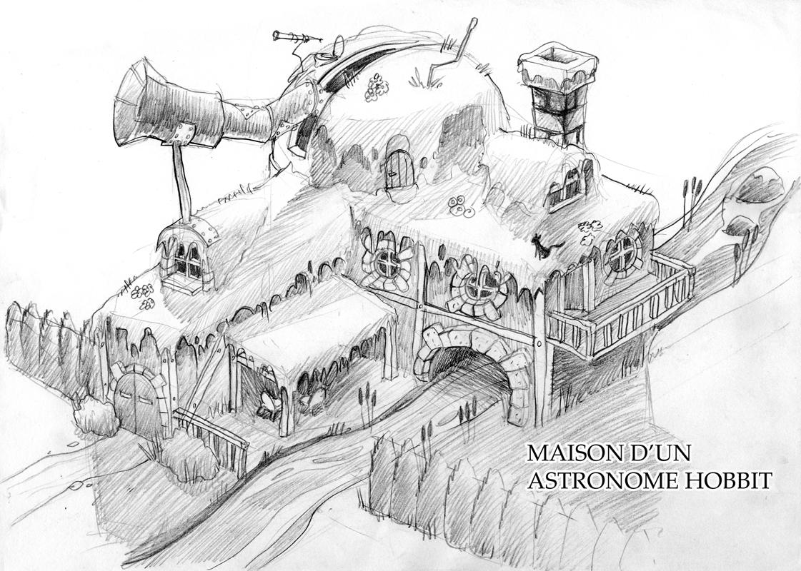 La Maison D Un Astronome Hobbit Dessins Croquis Roughs
